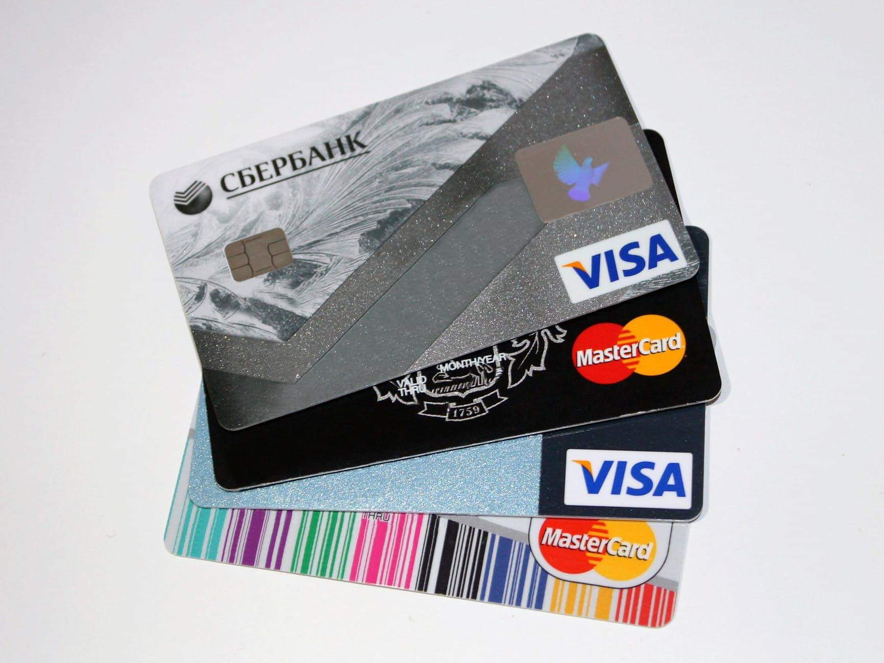 The different bank Credit and Debit cards in detail
